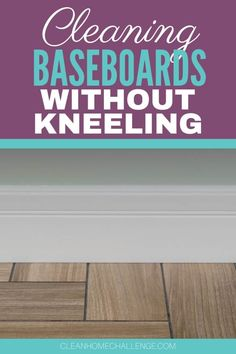 Kneeling to clean baseboards can be difficult, especially if you have back or knee problems. But there's an easier way to avoid the strain of bending over — and it doesn't involve using a scrubber on your hands and knees! The easiest way to clean your baseboards without kneeling is by using a duster with an extendable handle followed by a mop. Cleaning Spray, Diy Cleaning Products, Cleaning Hacks, Cleaning Baseboards, Spin Mop, Lazy People, Dishwashing Liquid, Household Cleaners, Laundry In Bathroom