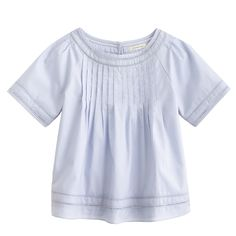 Girls' swingy pintuck top : short sleeve | J.Crew