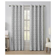 VCNY Tribeca Jacquard Grommet Curtain Panel