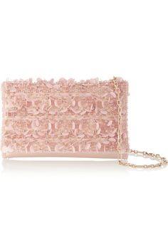 Oscar de la Renta   Embellished satin shoulder bag   NET-A-PORTER.COM