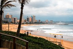 Durban, South Africa- Birthplace of my mother! I visited in grade, and I remember this beach well! On the Second day we went here, and 15 minutes of being in the water I was stung by one of the deadliest jellyfish in the ocean. All About Africa, Out Of Africa, Jacob Zuma, Wonderful Places, Beautiful Places, Beautiful Pictures, Places To Travel, Places To See, Durban South Africa