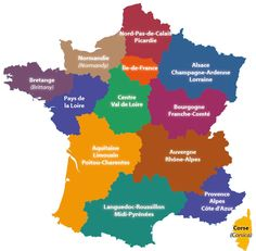 The 13 regions of France