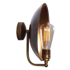 Blaze Wall Light (4.043.960 IDR) ❤ liked on Polyvore featuring home, lighting, wall lights, industrial light, antique brass lamp, industrial wall lamp, industrial lamp and industrial lighting