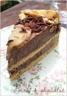 Charlotte aux poires/chocolat 100% maison (CAP pâtisserie)