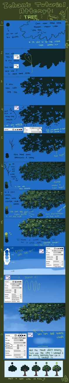 Tutorial: Tree (Updated) by ichan-desu.deviantart.com on @deviantART