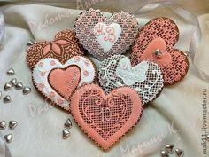 "Culinary handmade souvenirs.  Fair Masters - handmade gingerbread wedding ""10 years together.""  Handmade."
