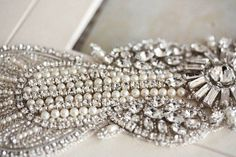 Bridal Sash Belt   Art Deco 18 inches Made to by EnrichbyMillie