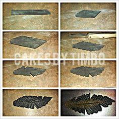 Fondant Feathers #1: Making a feather with fondant! - by Timbo @ CakesDecor.com - cake decorating website