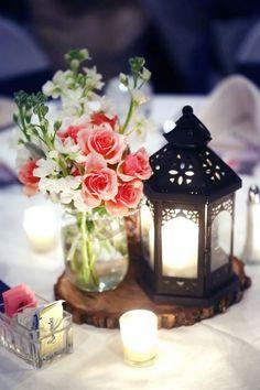 Centros de mesa con faroles para boda - Centros de Mesa                                                                                                                                                                                 Más