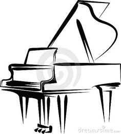 Line Drawing Grand Piano Open Lid Stock Vector (Royalty Free) 549698482 Piano Y Violin, Piano Art, Piano Music, Cello, Art Music, Music Tattoos, Tatoos, Piano Tattoos, Tattoo Ideas