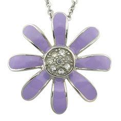 Flower shaped diamond inlaid stainless steel pendant, flower shaped diamond pendant,diamond inlaid pendant,flower shaped stainless steel pendant