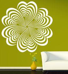 Elementos de desenho Flor Ilusão de Ótica Decalque Da Parede Do Vinil Adesivo de Parede decoração da sua casa Arte Da Parede pintura mural da parede(China (Mainland))