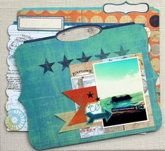 would make a great scrapbook page~ cool travel memory file by Piradee Talvanna for @Heidi Swapp