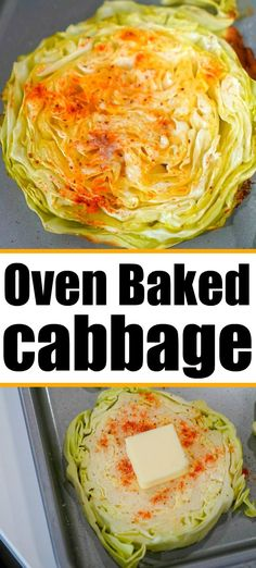 Baked cabbage steaks are buttery and the perfect side dish you've been waiting for! Simple ingredients, keto and low carb too I'm sure you'll love them too. #cabbage #bakedcabbage #cabbagerecipes #cabbagesteaks