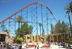 Goliath roller coaster at Six Flags Magic Mountain. I've been to Six Flags a few times and it's always a lot of fun.