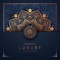 Islamic background luxury mandala ornaments Vectors, Photos and PSD files Mandala Pattern, Mandala Design, Mandala Art, Pattern Art, Pattern Flower, Luxury Background, Vector Background, Background Templates, Arabesque Pattern