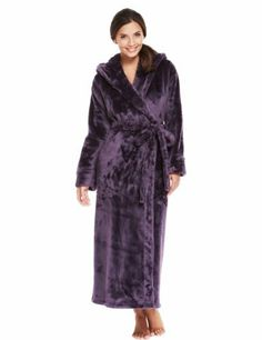Autograph Hooded ShimmerSoft™ Dressing Gown - Marks & Spencer
