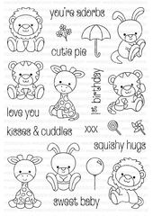 A6 clear stamp set comprising 21 separate stamps. Coordinates with Petite Plushies Die Collection -…