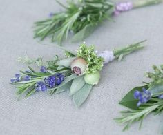 Diy-herbal-wedding-ideas2 really pretty on the plate or napkin