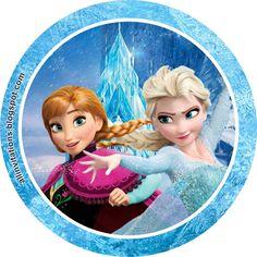 Etiqueta Redonda de Frozen