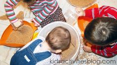 activity: sand play, resource: sand (2 to 2 1/2years)