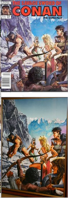 JOE JUSKO - The Savage Sword of Conan #154 - Nov 1988 Marvel Comics Conan Comics, Marvel Comics, Comic Book Artists, Comic Books Art, Fantasy Comics, Fantasy Art, Conan The Barbarian Comic, Conan O Barbaro, Vikings