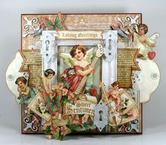 How to Vintage Valentine Wall Decor With Graphic 45 Sweet Sentimentals