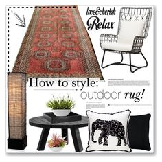 """""""How to style: outdoor rug 