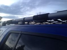 Roof rack net and handles so much better for getting up there and carrying stuff now