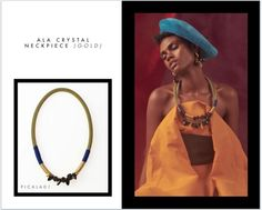 Ala Crystal Neckpiece: This neckpiece honors Ala, the Ibo Fertility Goddess of the earth and guardian of the harvest. The Ala Crystal neckpiece celebrates the abundance and joy of life, of sowing and reaping with tenacity and energy.  PICHULIK A/W16 Ala Crystal Neckpiece  Buy Online:http://www.pichulik.com/shop