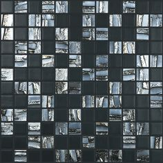 "Kellani Moon Blends 12.375"" W x 12.375"" L Eco Glass Mosaic in Shimmer Rock"