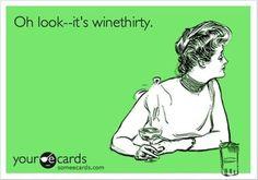 @Danielle B.  It's wine thirty somewhere!