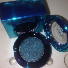 """Mac colourdrenched pigment - tonight's the night! From the holiday 2015 collection, """"magic of the night"""" this is limited edition and sold out. Described as a blackened teal. Absolutely gorgeous! MAC Cosmetics Makeup Eyeshadow"""