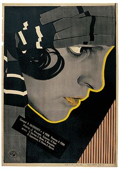 Film Posters of the Russian Avant-Garde - Susan Pack. Lovely colours and contrast here - think I recognise the film too (though not sure).