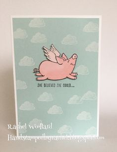 Last Saturday I had the pleasure of attending the Stampin' Up! Onstage event, one of the many perks of being a Stampin' Up! This Little Piggy, Little Pigs, Stampin Up Catalog 2017, Stamping Up Cards, Animal Cards, Scrapbook Cards, Scrapbooking, Paper Cards, Cool Cards