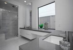 graue Designs badezimmer idee spüle