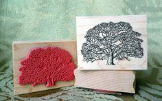 Oak Tree rubber stamp.