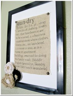 DIY Burlap Laundry Sign DIY Fall Decor DIY Home Decor