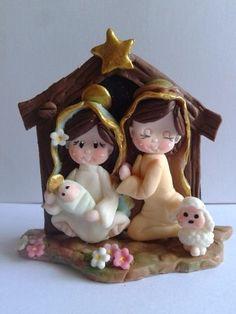 Christmas Clay, Christmas Ornaments, Clay Baby, Clay Ornaments, Clay Figures, Pasta Flexible, Clay Crafts, Polymer Clay, Teddy Bear
