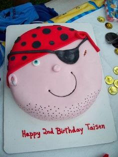 Pirate Birthday Party cake!  See more party ideas at CatchMyParty.com!
