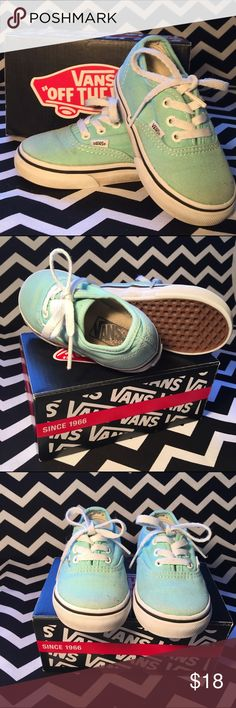 Mint Toddler Vans They show some love because they are dope and my kid loved them as much as me BUT they got plenty of love left to give. So cute. Now on to a larger size to continue the awesomeness. Vans Shoes Sneakers
