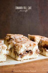 Cinnamon Roll Cake from scratch RecipeCrunchy Creamy Sweet