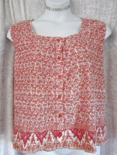 FADED GLORY WOMAN AUTHENTIC PLUS SZ 26/28 4X 5X ACCORDIAN BLOUSE TOP ORANGE #FadedGlory #Blouse #Career
