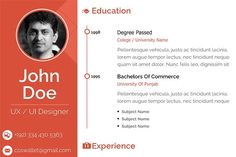 Clean Resume Design by Creative Bumps on @creativemarket