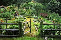 my dream garden! French Potager Garden - veggie garden please! Farm Gardens, Outdoor Gardens, Indoor Outdoor, Cottage Gardens, Outdoor Living, Courtyard Gardens, Outdoor Spaces, English Gardens, Rustic Gardens