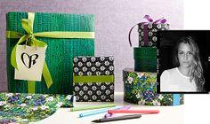 Fashion-forward wrapping paper by Charlotte Ronson. #newwaytoholiday