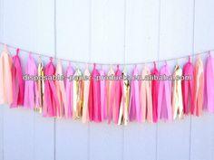 Candy Pop Tissue Paper Tassel Garland - Party - Wedding - Baby Shower - Nursery-Tissue Paper Tassel Garland Kit