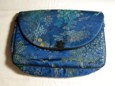 Asian Cranes Embroidered Make Up Bag Purse by EclecticVintager