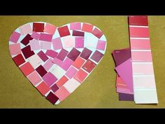 Paint Chip Heart (from Childcareland via YouTube)