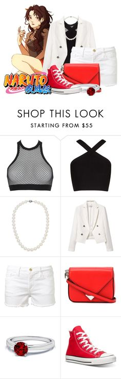 """""""Kurenai    Naruto Shippuden"""" by stormtrooper117 ❤ liked on Polyvore featuring Dsquared2, BCBGMAXAZRIA, Blue Nile, MANGO, Frame Denim, Alexander Wang and Converse"""